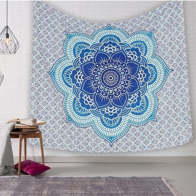 New Indian style printing home tapestry multi-functional wall decoration beach towel mandolin flower beach mattress sleep