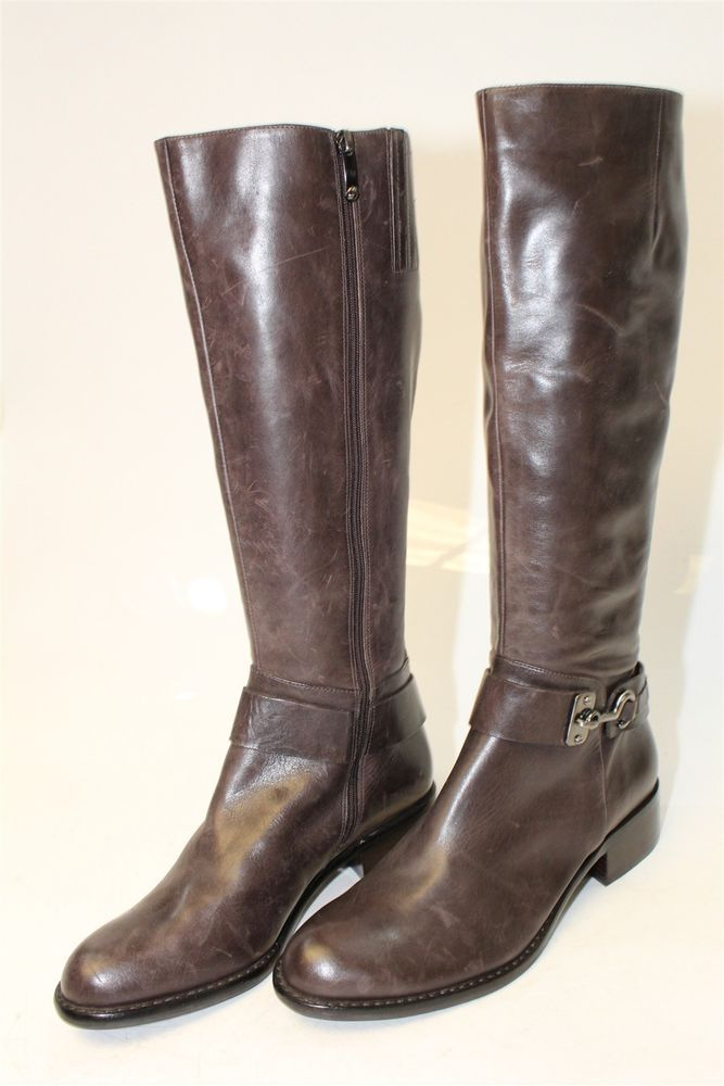 f100d59d2d2 Via Spiga NEW MISMATCH 8 7.5 M Carly Womens Burnished Leather Riding Boots  kn  fashion