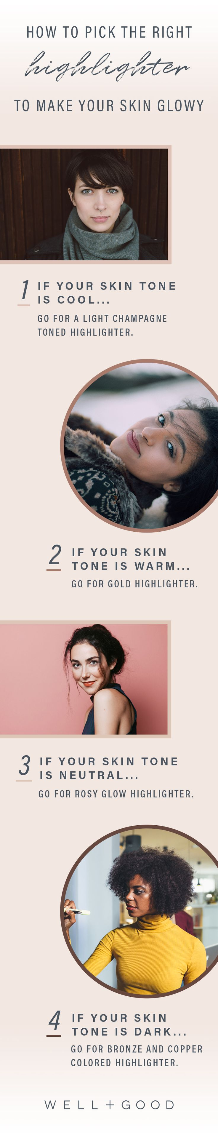 Makeup highlighters for glowy skin