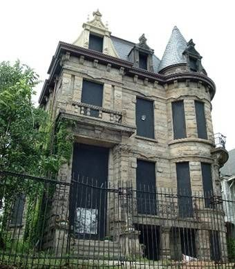 Franklin Castle - one of the most haunted houses in Cleveland. Activity includes shaking light fixtures, apparitions, ghostly organ music and apparitions.
