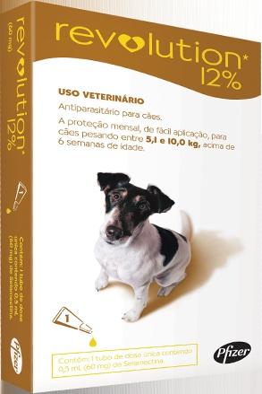 Revolution cães de 5 a 10kg - vermifugo, anti pulgas, anti carrapatos num pratico produto - PetLove