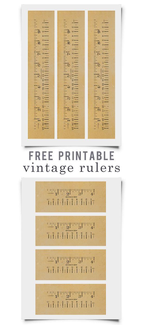 Free printable high resolution rulers