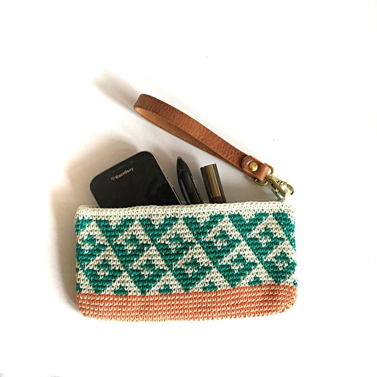 Statement clutch, unique tribal wristlet, stylish clutch, cotton bag, medium clutch, crochet bag, orange clutch bag, cotton leather bag by lilyandleigh on Etsy https://www.etsy.com/uk/listing/587811379/statement-clutch-unique-tribal-wristlet