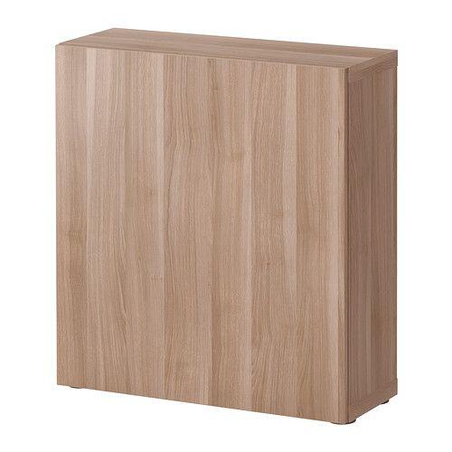 """BESTÅ $58 Shelf unit with door - Lappviken walnut effect light gray, 23 5/8x7 7/8x25 1/4 """" - IKEA"""
