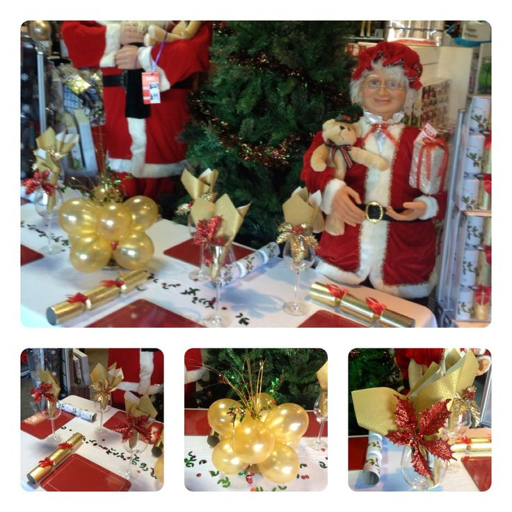 Choosing a colour scheme for your christmas is so much fun. In this case, it was Christmas In July and we had just purchased our 6Ft Santa Claus and sweet Mother Claus so we wanted to display them. The table looked stunning in the Gold and Red to co-ordinate and compliment the colors in our Dancing Santa's.