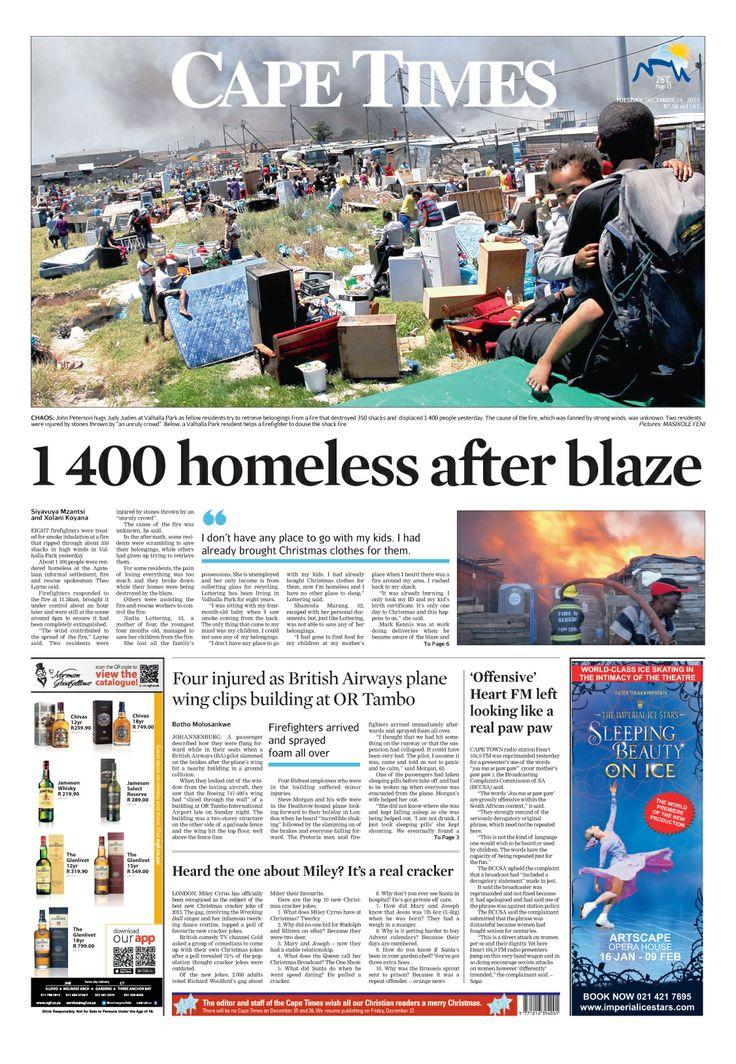 News making headlines: 1400 homeless after blaze