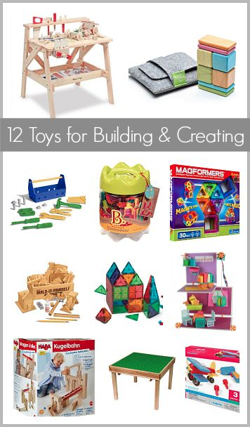 Gift Ideas for Kids who Love Building and Creating: including a Lego table, magnetic blocks, work bench, and more!