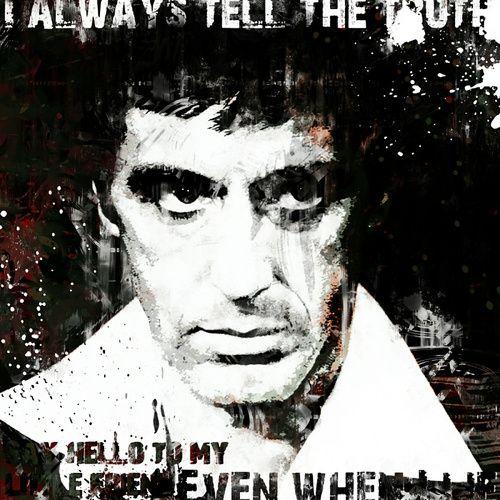Scarface Al Pacino Pop Art Schilderij