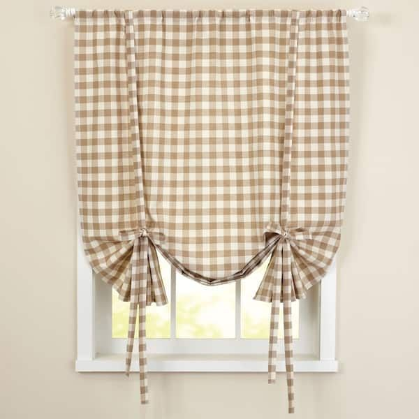 Buffalo Check Decorative Tie Up Shade Tie Up Shades Sweet Home Collection Blinds For Windows