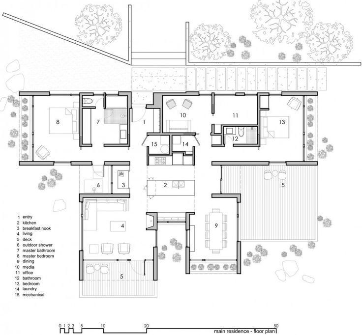 HHHHH I like this kitchen layout plus the plan includes 2 buildings on a rocky property and constructed with many local materials. Capitol Reef by Imbue Design (15)