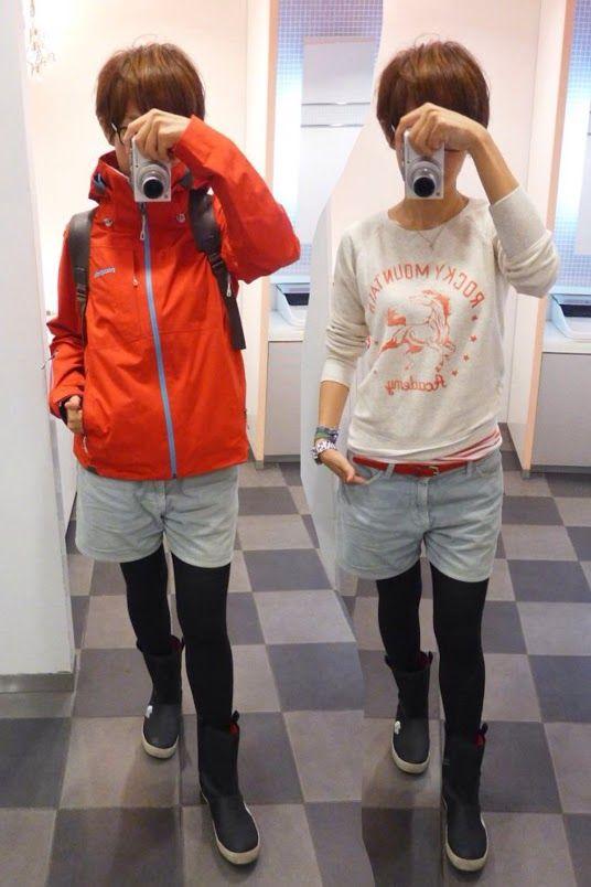 雨、雨、雨だから今日もレインスタイル。 Jacket/patagonia Tops/UNIQLO Inner/H&M Bottoms/JOURNAL STANDARD Bag/Jan Sport Shoes/The North Face  Today is a rain style of blue and red.