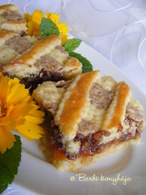 Barbi konyhája: Diós mágnás sütemény - gyermekkorom óta a kedvence...