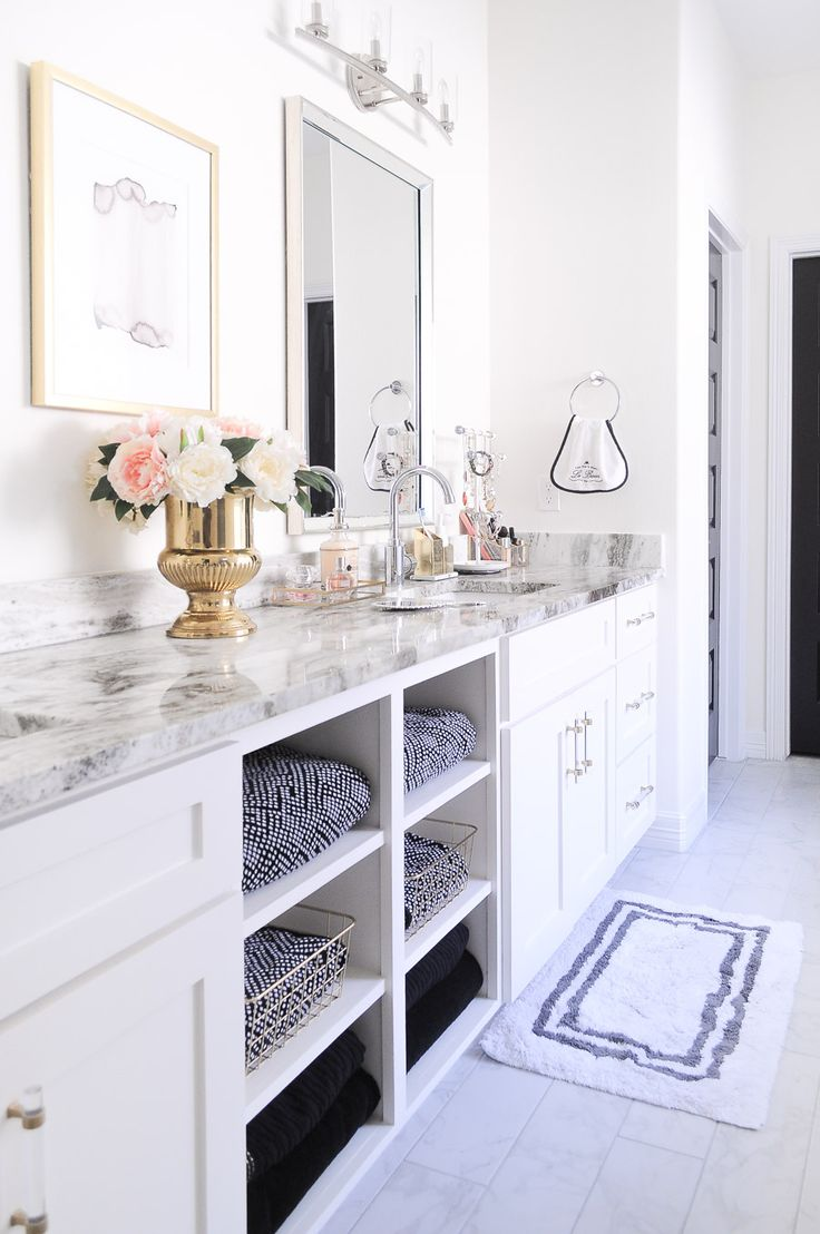 Badezimmer eitelkeiten 59 glam gold u white master bathroom refresh  bathroom  pinterest