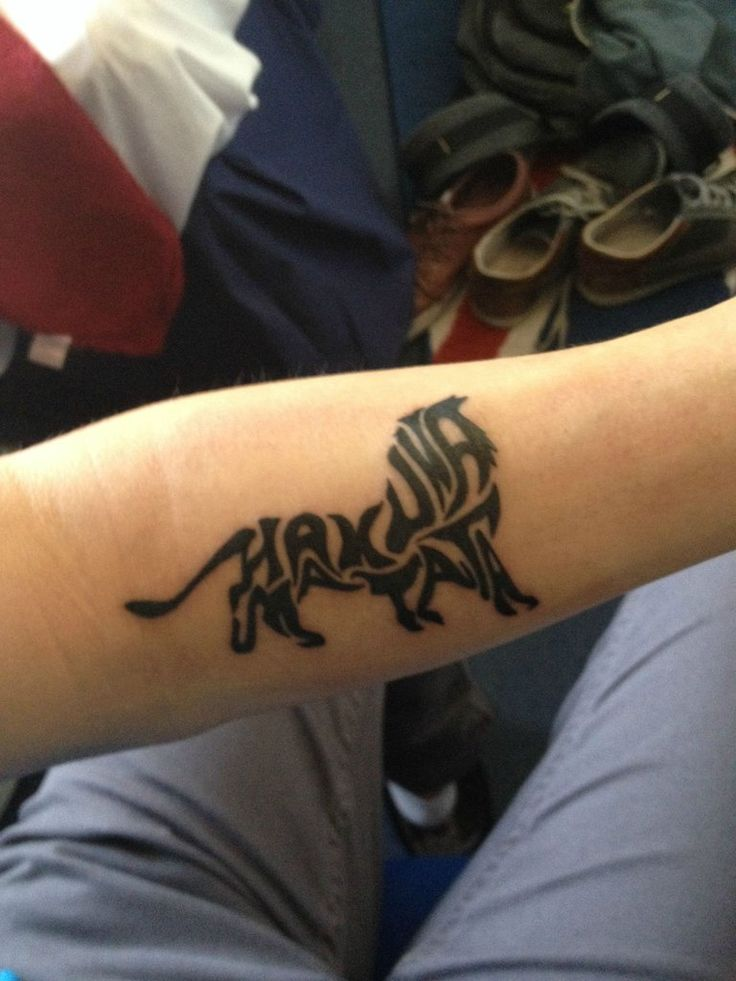 Hakuna Matata, by Garry @ Sacred Art, Chorlton Disney lion king tribal tattoo