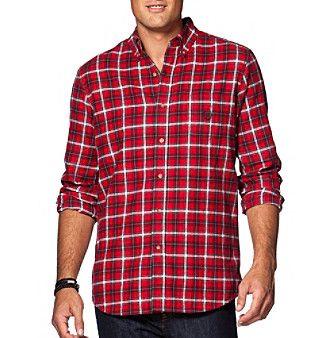 Chaps® Men's Long Sleeve Button Down Plaid Flannel Shirt