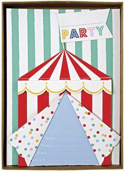 Invitations Chapiteau Circus chez Bianca and Family