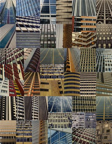 """use as inspiration for creating patchworks from similar photo-abstractions.    (""""Technicolour Towers"""" - sharon elphick)"""