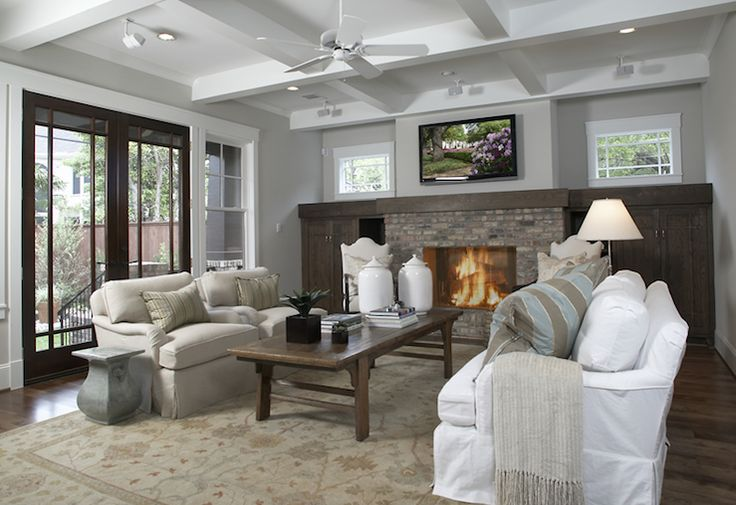 Craftsman Style Home Design With Coffered Ceiling Coffee