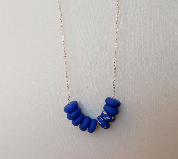 Handcrafted polymer clay necklace in Fields of Cornflowers, by craft & folk  https://www.etsy.com/ie/listing/219487203/fields-of-cornflowers-handmade-polymer?ref=shop_home_active_8
