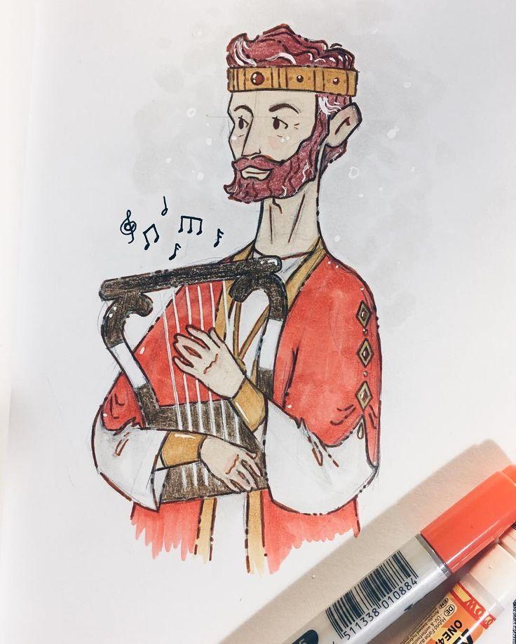 King David. :) -------------- #ZuremMeru #IllustrationArt #LifeOfAnIllustrator #DrawingOfTheDay #IllustrationOfTheDay #BibleCharacter #BibleBasedIllustration #BiblicalIllustration