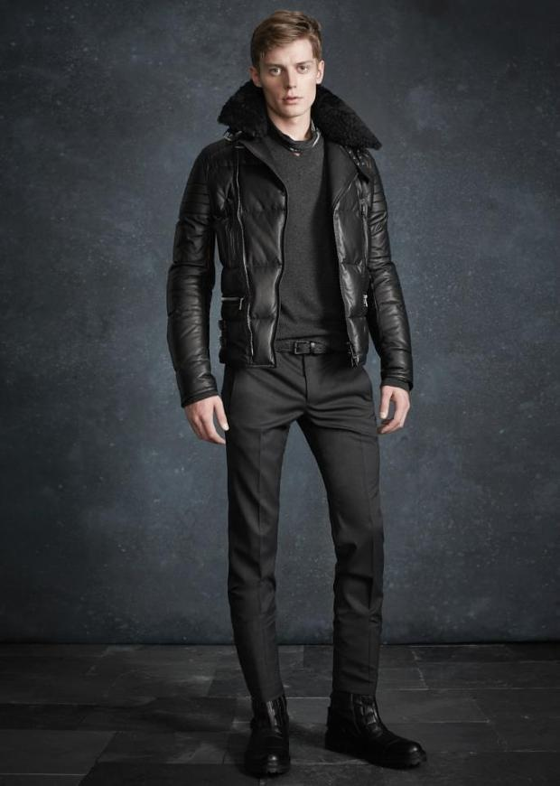 Belstaff Men's PF '13 ... ( your grey trousers , the grey tight jersey with leather jkt )