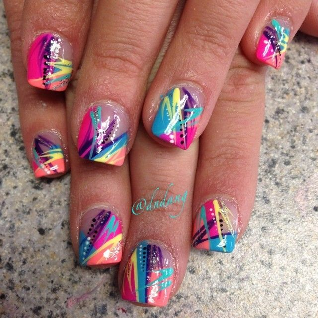 graffiti nails ideas