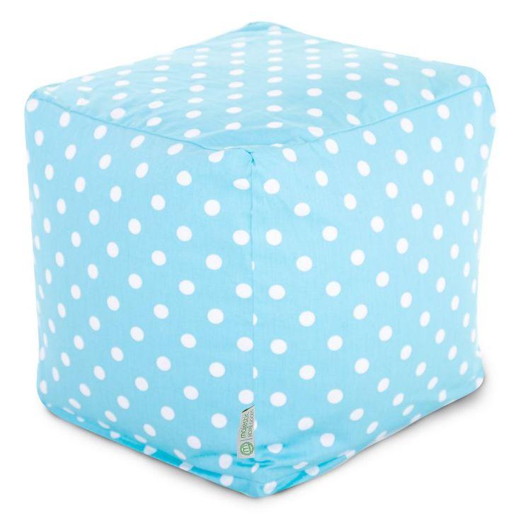 Majestic Home Goods 17 x 17 x 17 Small Cube Aquamarine Small Polka Dot - 85907210129