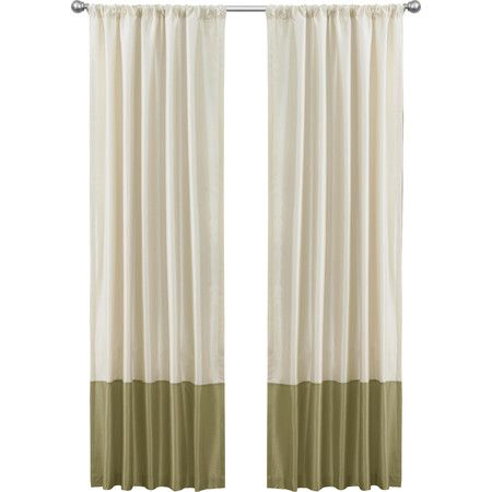 Ashlyn Curtain Panel in Beige and Sage  at Joss and Main