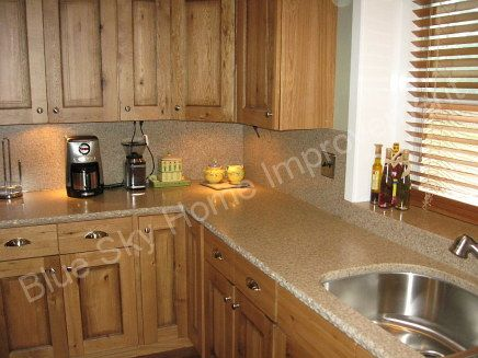Oak Cabinets With Granite Countertops Rustic Oak Kitchen