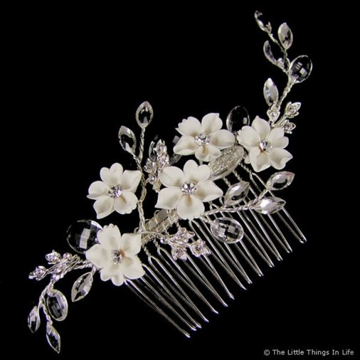 Jessica Wedding Hair Comb (Silver) - Photo 1