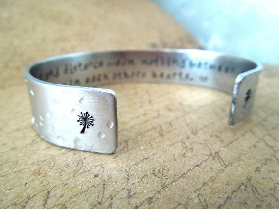 Sisters Gift Bracelet- Time and Distance Mean Nothing Between Sisters Secret Message Cuff Bracelet by Smitten by Kristin