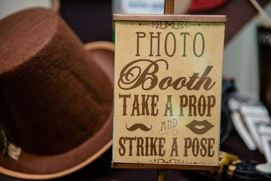 Steampunk Victorian Photo Booth prop sign