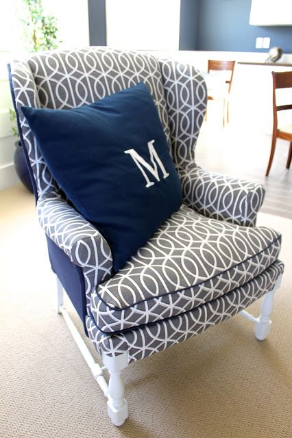 Amy's Casablanca: no sew reupholstered chair