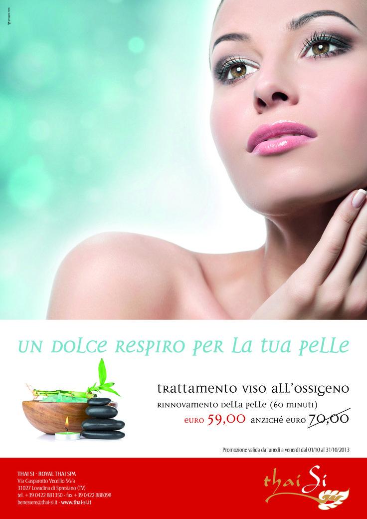 Trattamento viso all'ossigeno al Thai Si - Royal Thai Spa di Lovadina di Spresiano (TV) #wellness