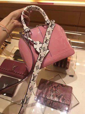 6c3a3b5ff9e5 Louis Vuitton Vernis Monogram Trim Alma BB Bag M54704 Rose Balle ...