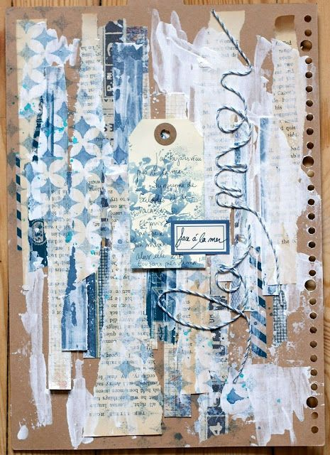 **Mon scrap par Liliema** love the layers and texture