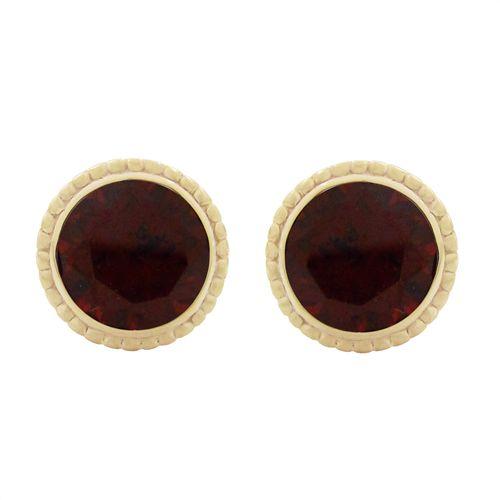 14KY TESSA EARRINGS WITH GARNET   Penwarden Fine Jewellery - Jewelry - Jewelers Toronto Ontario GTA