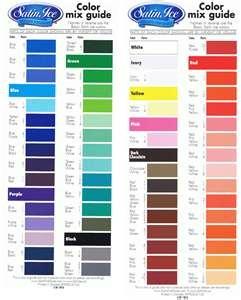 Satin ice fondant colour mixing chart