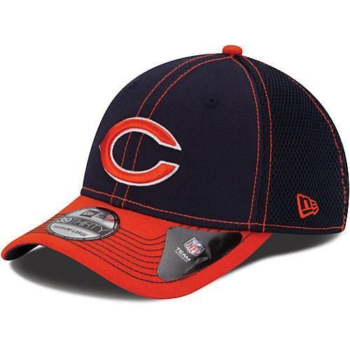 newest 9e089 87c2c Mens Chicago Bears New Era NFL 39THIRTY Blitz Neo 2 Tone Flex Fit Hat