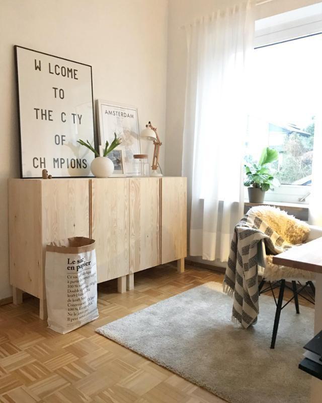 IKEA Hack: IVAR als Sideboard arrangiert! #dekoration #wohnzimmer ...