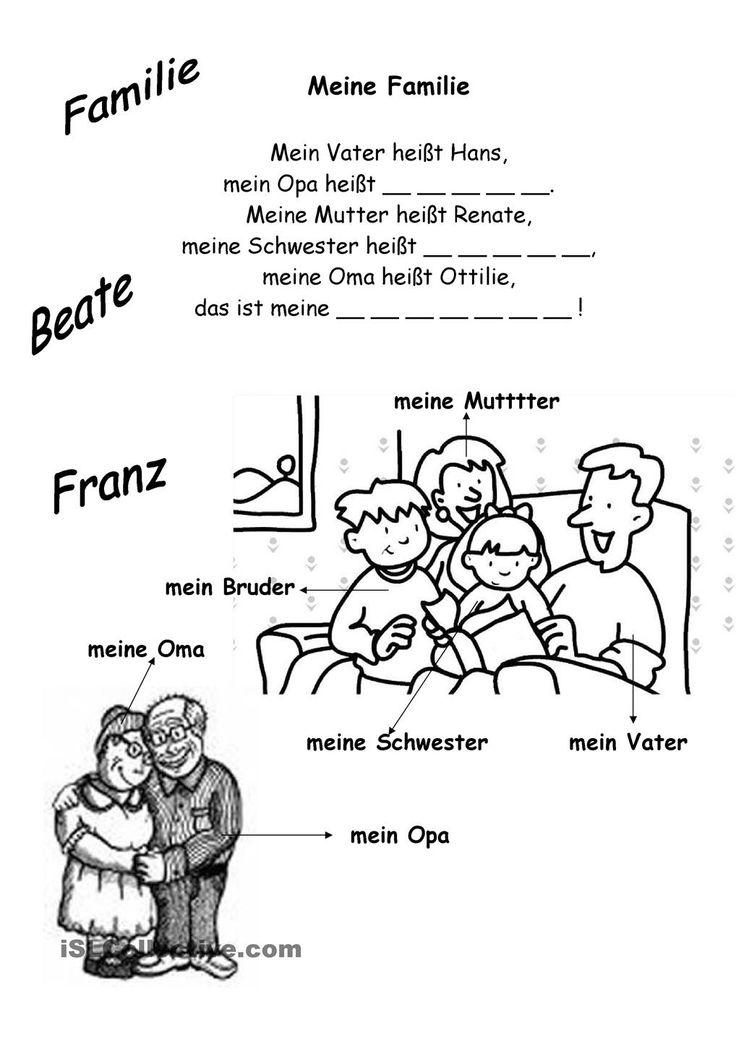 Dorable Bei Wort Arbeitsblatt Familie Für Kindergärten Inspiration ...