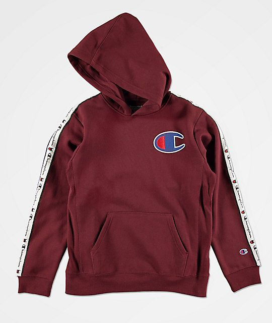 d29d6dc5 Champion Boys C Patch Taped Maroon Hoodie in 2019 | Christmas 2018 ...