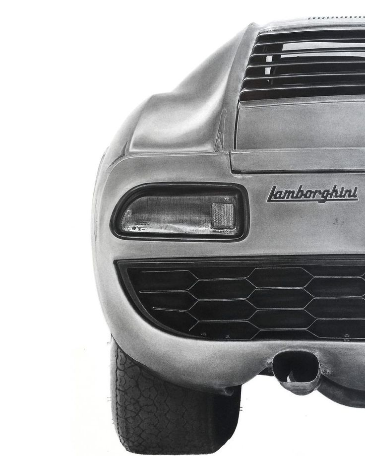 LIFESIZE PENCIL DRAWING Lamborghini - K Williamson Art INSTAGRAM