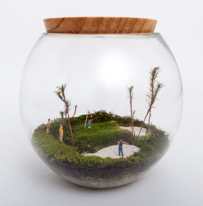 petite green miniature golfing terrarium pinboard pinterest offices inspiration and. Black Bedroom Furniture Sets. Home Design Ideas