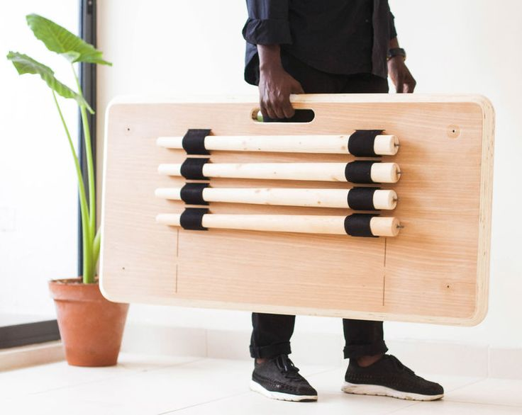tebur - Modern workers are more mobile than generations past, and Nifemi Marcus-Bello's Tebur desk is an acknowledgement of that mobility. The Nigeri...