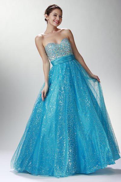 Quinceanera Dress / Vestido de 15 Turquesa @ www.dressdress.net