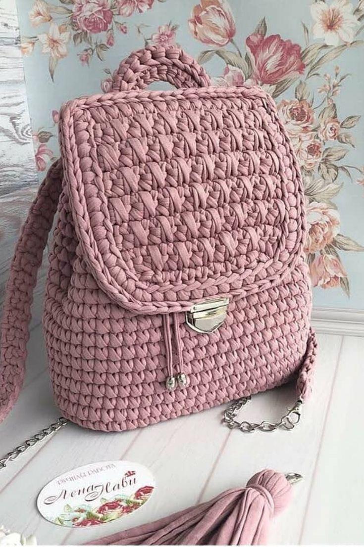 Crocheted Beach Bag- Amazing Beautiful Beach Bags! 35 Free Crochet Patterns New 2019 – Page 16 of 35