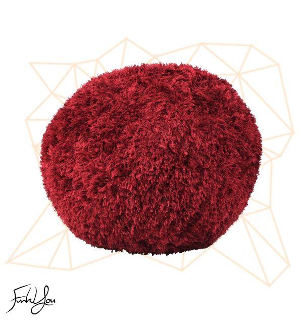 Fuzz Ottoman - Red www.funkyou.com.au