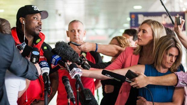 Chris Gayle issues hesitant statement of regret to games columnist Mel McLaughlin #news   #paulhaywardbangkok   #paulhayward   #ChrisGayle