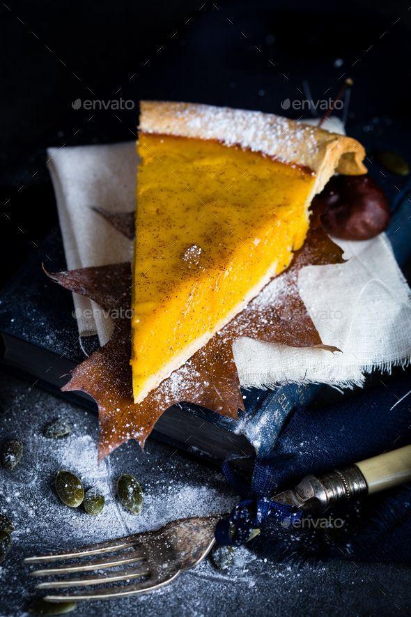 A Slice of Thanksgiving Pumpkin Pie in Autumn Scene - Stock Photo - Images Download here : https://photodune.net/item/a-slice-of-thanksgiving-pumpkin-pie-in-autumn-scene/18917379?s_rank=6&ref=Al-fatih
